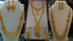 gold long necklace images Gold long bridal necklaces sets jpg