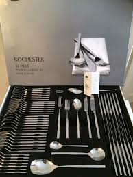 Cutlery Sets Stellar Rochester Polished 58 Piece Cutlery Gift Box Set Ref Bl71