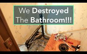 rv bathroom remodel prepping for renovation youtube