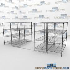 Metal Wire Shelving by Sliding Adjustable Wire Shelving With Ada Tracks Gliding Metal