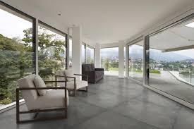 concrete look porcelain floor tiles in sydney contemporary