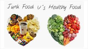 difference between healthy food and junk food youtube
