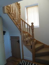 interior space saving staircase design with cool fold away ladder