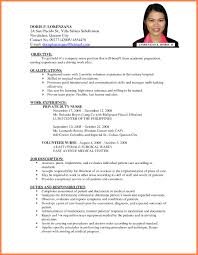a resume for a job application format of a resume for applying a