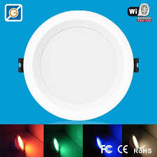 wifi led recessed lights 5 inch recessed led rgbw wifi downlight 9w ac100 240v smart bulb