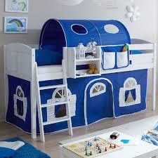kinderbett mit treppe ticaa hochbett eric kiefer weiß country blau weiß landhausstil