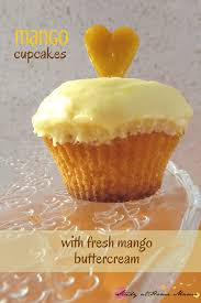 mango cupcakes with fresh mango buttercream sugar spice and