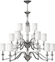 Ivory Chandelier Hinkley 4799bn Sussex 15 Light 47 Inch Brushed Nickel Foyer