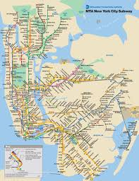 Maps New York City by New York City Public Transportation Map New York City U2022 Mappery