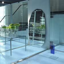 glas italia kooh i noor modern floor standing mirror by piero