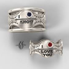 wedding rings his and hers his and hers wars ring set sterling silver with rubies