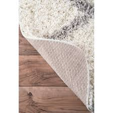 amazon com nuloom 8 u0027 x 10 u0027 shanna shaggy rug in white garden