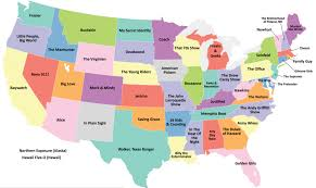Cool Maps Map Of The Week 10 18 13 Your State U0027s Most Popular Tv Show The