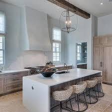 Beach Cottage Kitchen by Beach Cottage Kitchen With Long Center Island Cottage Kitchen