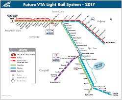 san jose light rail map the san jose blog vta light rail turns 25