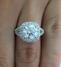 2 carat cushion cut engagement ring cushion cut ring ebay