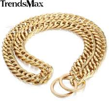 bracelet chain link styles images Cuban gold chain link style 13mm wide dog collar barking bullies jpg