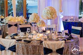 silver blue color scheme inspiration for a winter wedding