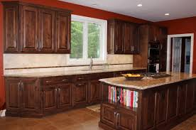 Dark Kitchen Island Custom Designed Kitchens Portfolio Cabinets And Counters