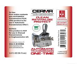 cerma transmission treatment clean revitalize protect