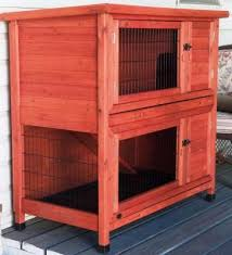 Rabbit Hutch Plastic Trixie Natura Two Story Rabbit Hutch Petco