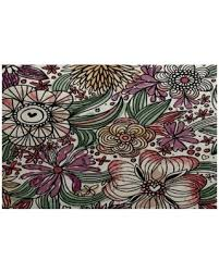 3 X 5 Indoor Outdoor Rugs Spectacular Deal On E By Design Zentangle Floral Floral Print