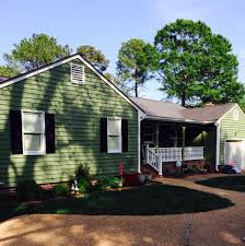 house painted with sherwin williams artichoke green exterior house
