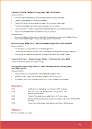 Resume For Photographer Resume Examples Graphic Design