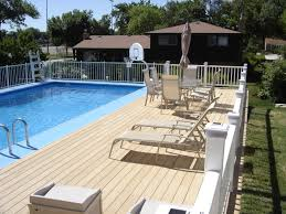 deck backyard ideas small yard above ground pool designs above ground swimming pool