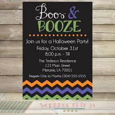 boos and booze halloween party invitation halloween