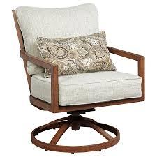 signature design by ashley zoranne set of 2 swivel lounge chairs