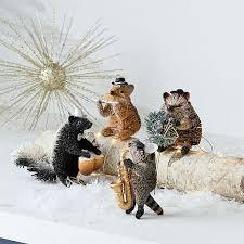 jazzy hedgehog bottle brush ornament west elm