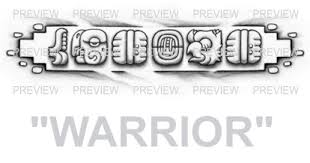 warrior mayan glyphs design c aztec tattoos aztec