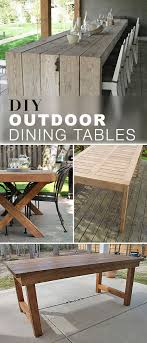 large outdoor dining table diy outdoor dining table projects the garden glove