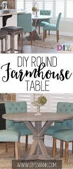 diy round farmhouse table diy round farmhouse table diy swank