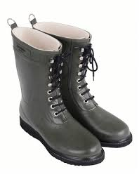 ilse jacobsen mens 3 4 rubber boot with laces army