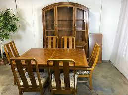 Wooden Dining Table Chairs Solid Wood Dining Set Chairs Table China Cabinet Great