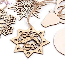 wooden christmas ornaments fengrise wooden snowflakes christmas tree garland wood christmas