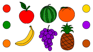 fruits coloring pages colors for children drawing fruits with