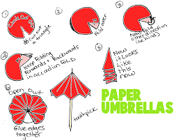 How To Make Paper Umbrellas - how to make paper toothpick umbrellas cut out a circle from