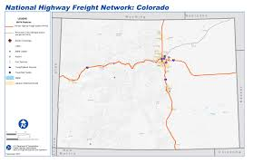Colorado Map Images by National Highway Freight Network Map And Tables For Colorado