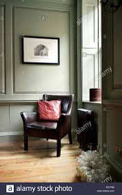 Living Room Leather Chair First Floor Living Room Corner Detail Leather Chair In Corner By