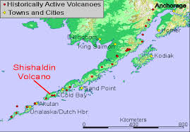 map of aleutian islands location map of shishaldin volcano alaska