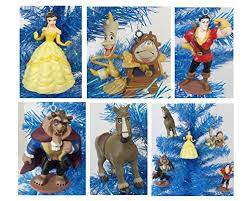 disney and the beast 5 ornament set featuring princess