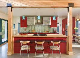 red rustic kitchen decor best home decor