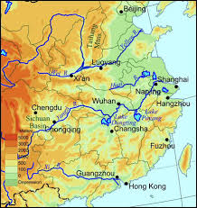 rivers in china map two great rivers run through china proper