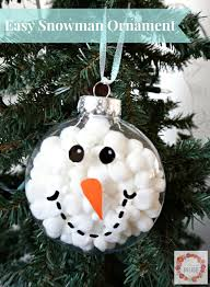 a glimpse inside easy snowman ornament