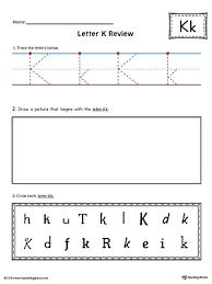 free worksheets trace letter k free math worksheets for