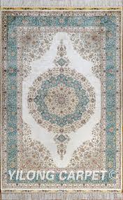 Area Rug Materials Green Rug Turkish Carpet Silk Rug Tabriz Rugs
