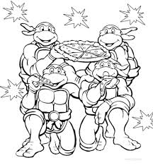 teenage mutant ninja turtles 2014 movie coloring pages free